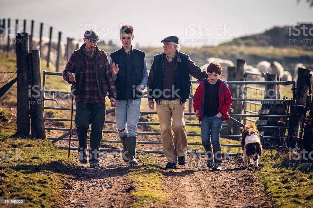 Farming runs in the Family stock photo