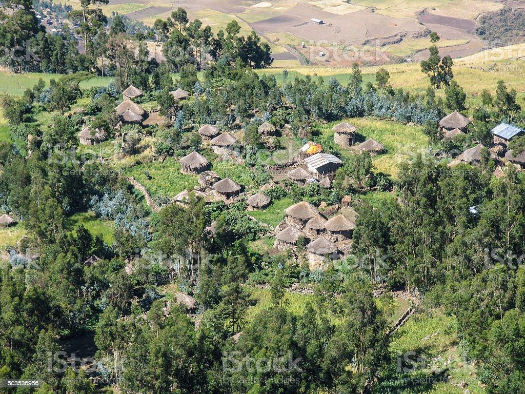 Bauerndorf in Äthiopien stock photo