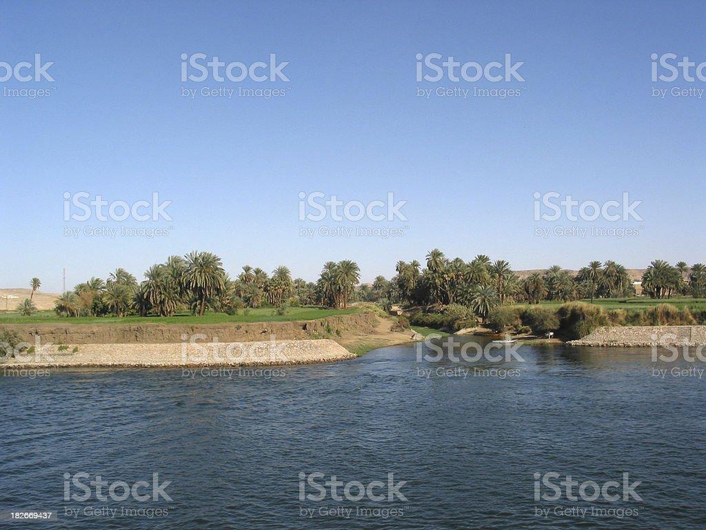 Farmland along the Nile, Egypt royalty-free stock photo