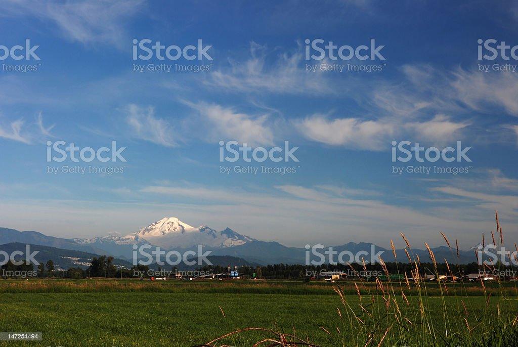 farmland and mt. baker royalty-free stock photo