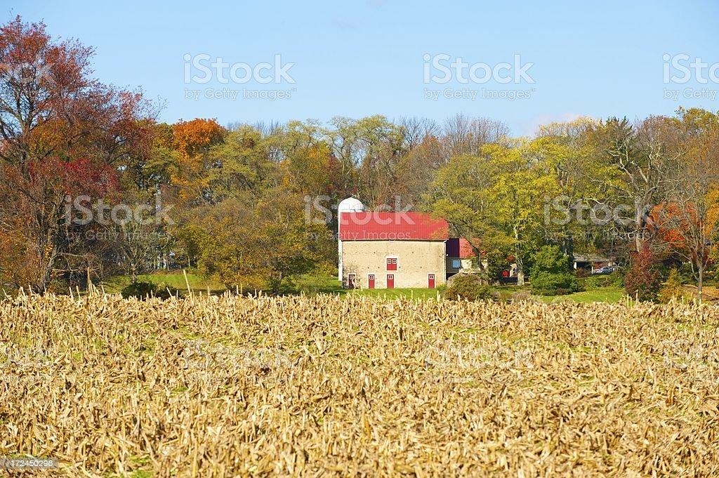 farmland in Pennsylvania royalty-free stock photo