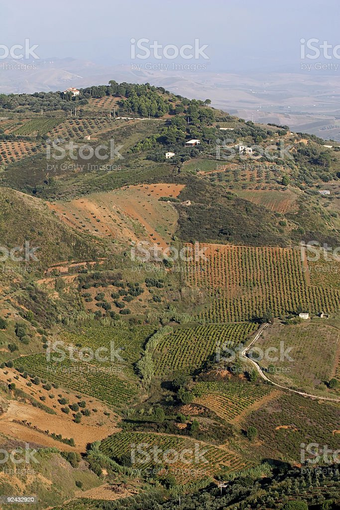 Farmland in Sicily royalty-free stock photo