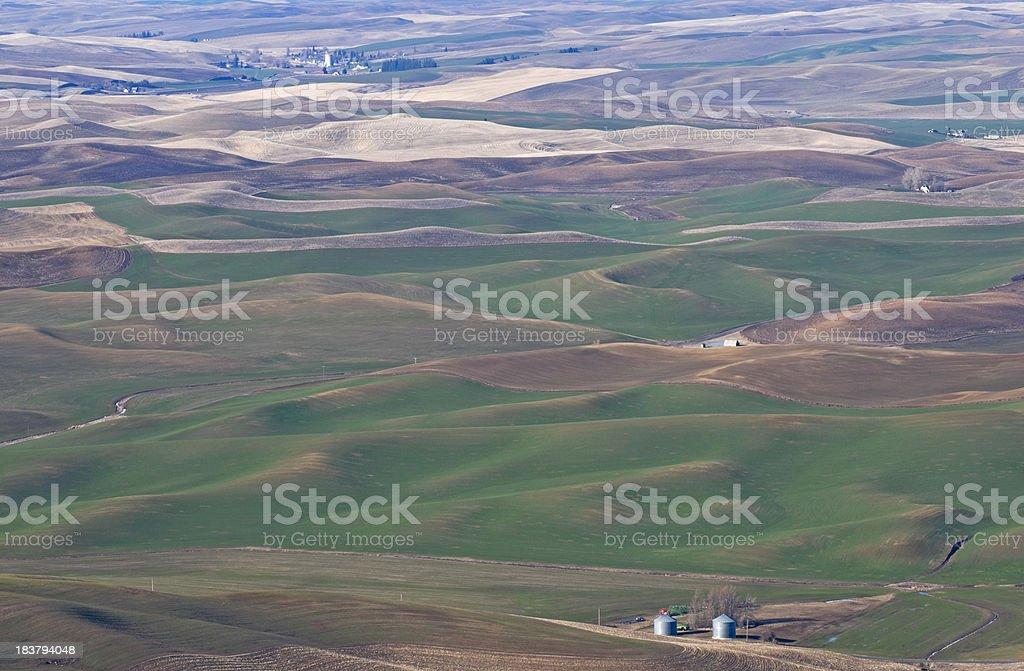 Farmland in southeastern Washingto state stock photo