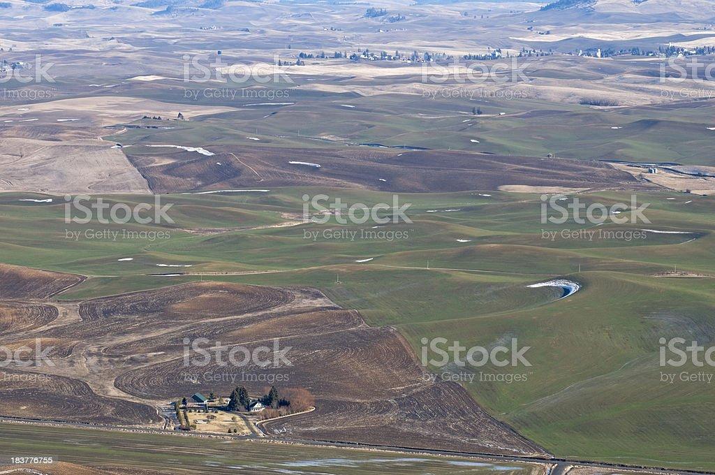 Farmland in the Palouse area of southeastern Washington stock photo
