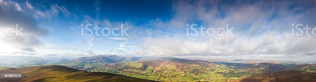 Farmland mountains big sky royalty-free stock photo