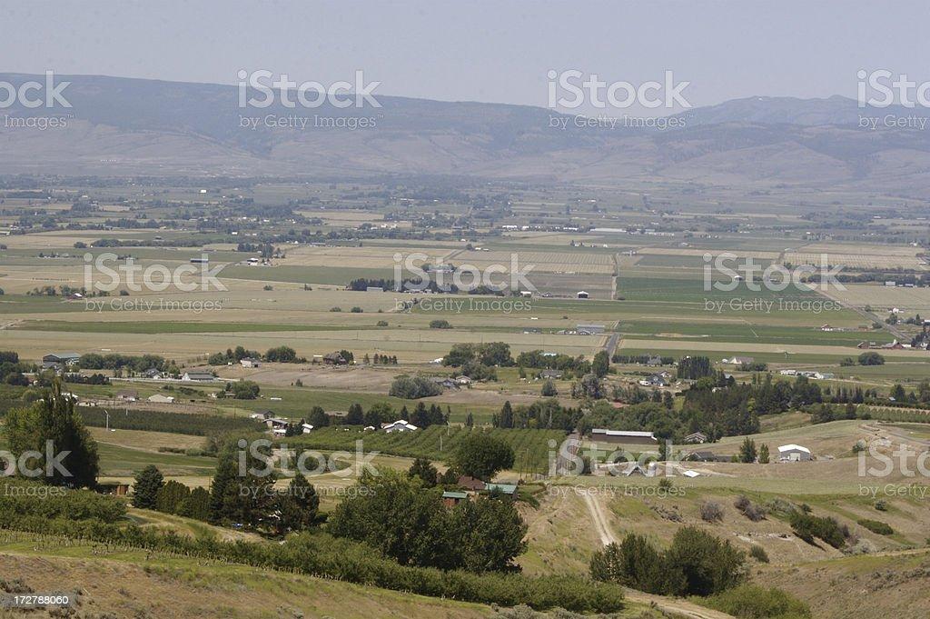 Farmland Valley royalty-free stock photo