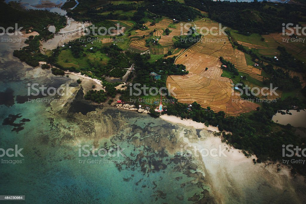 Farmlands and Beaches in the Philippines stock photo