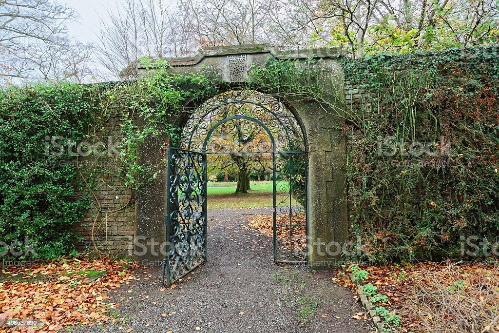 Farmleigh Garden Gate royalty-free stock photo