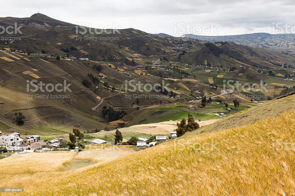 Farms and crops near Zumbahua stock photo