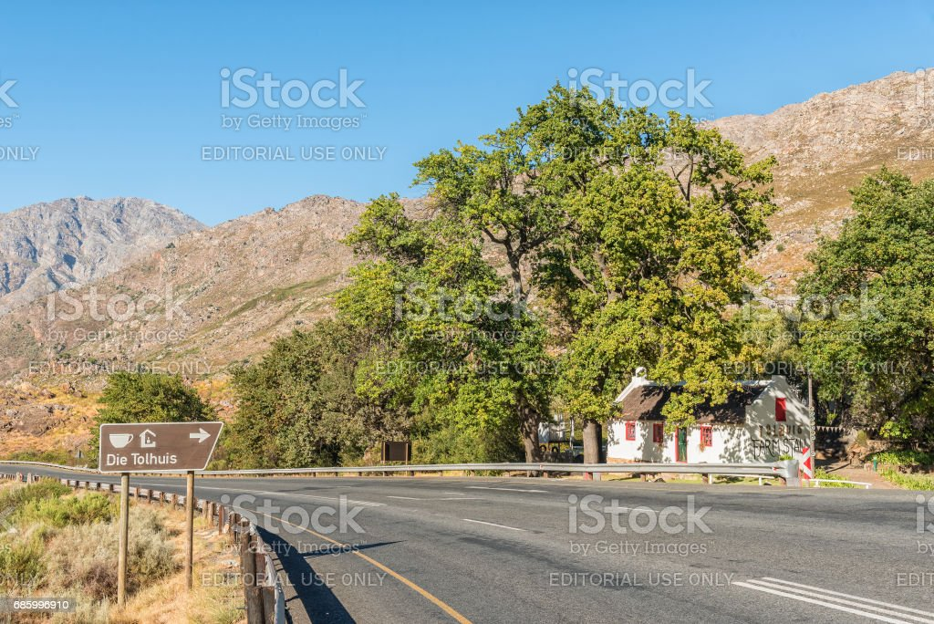 A farmstall in the historic toll house in Michells Pass stock photo