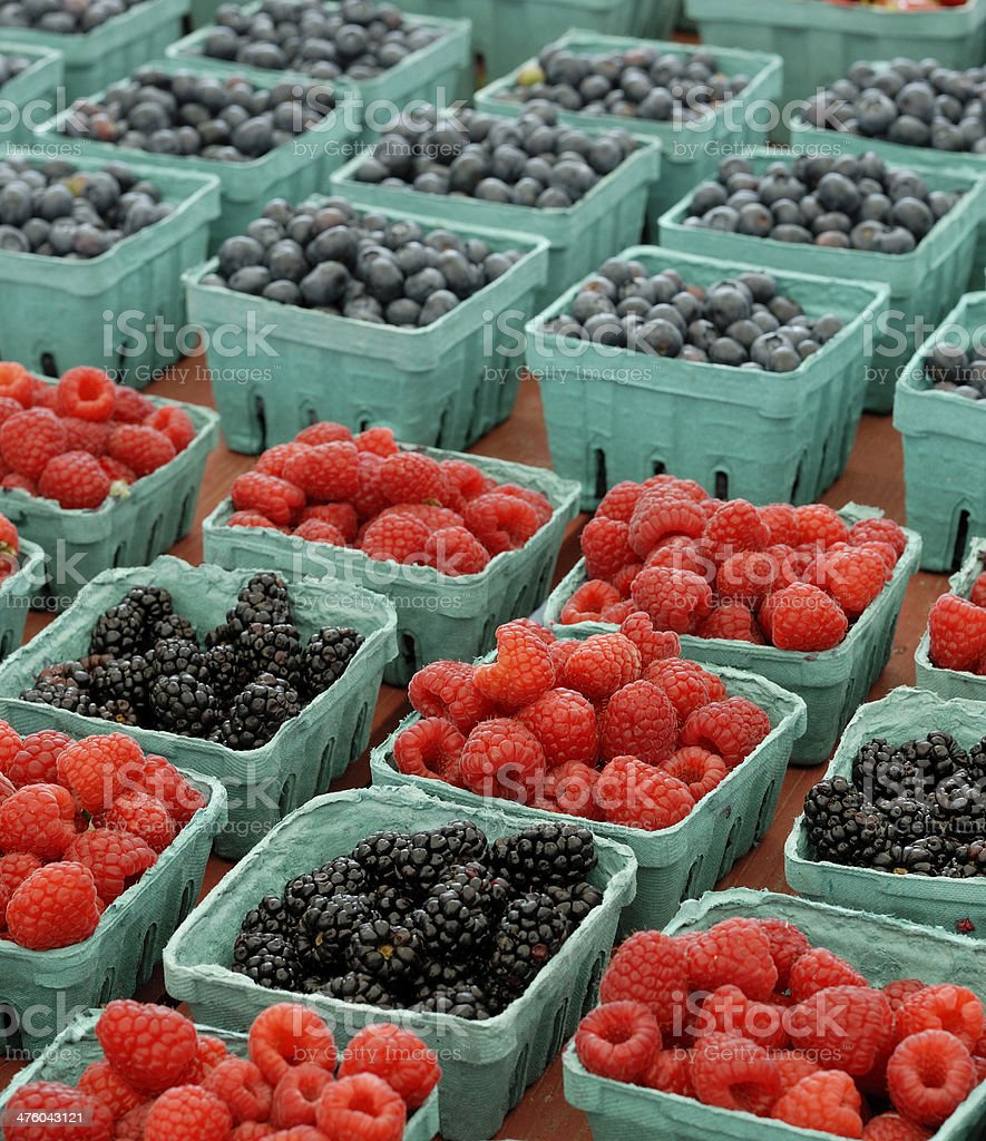 farmstand Berries royalty-free stock photo