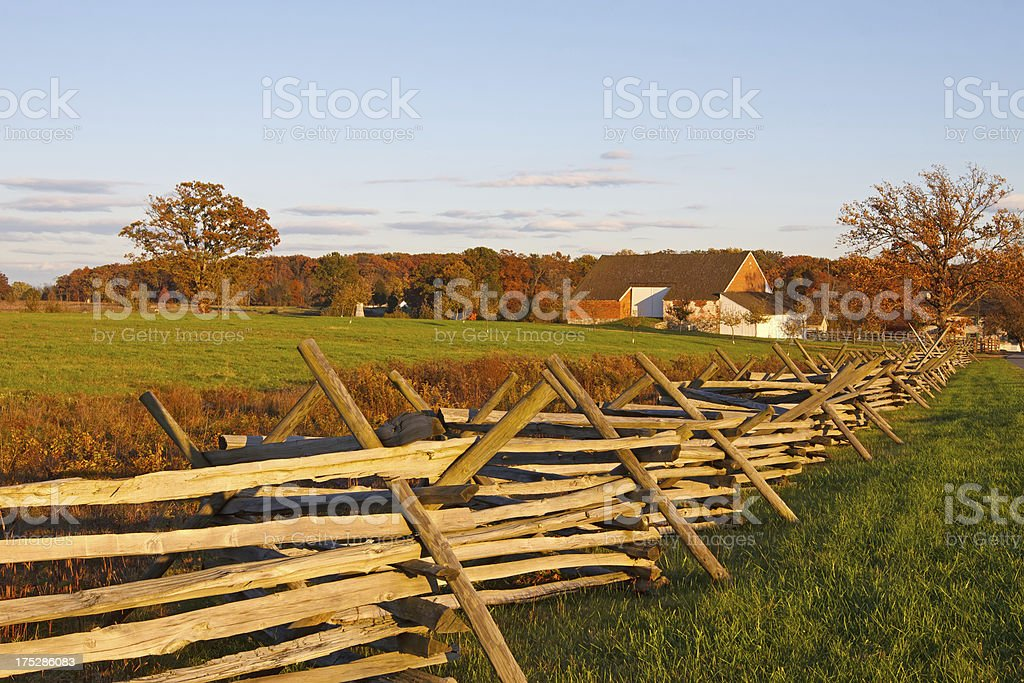 Farmstead at Gettysburg stock photo