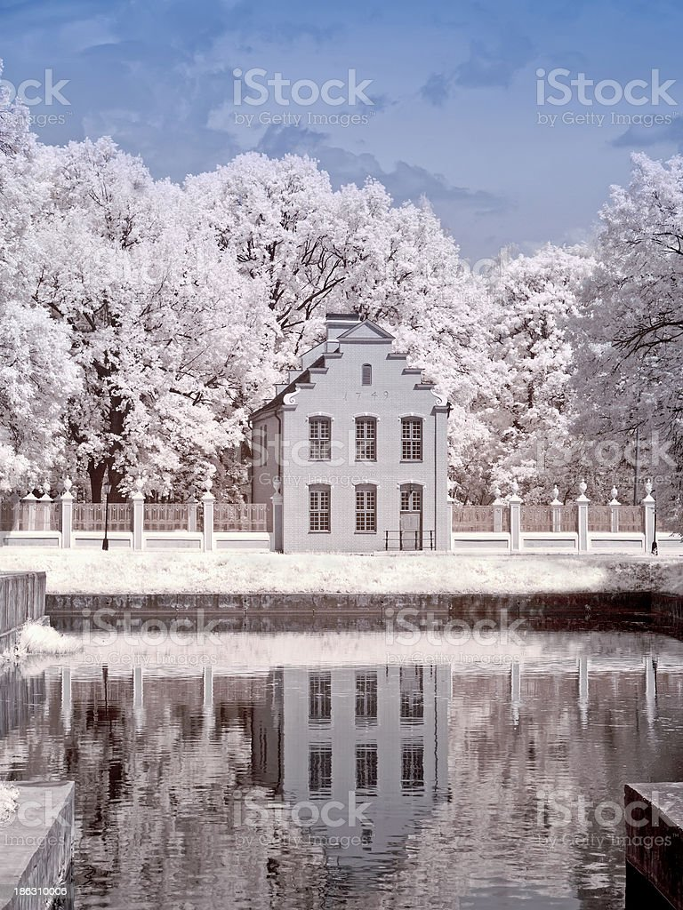 Farmstead Kuskovo. Dutch house royalty-free stock photo