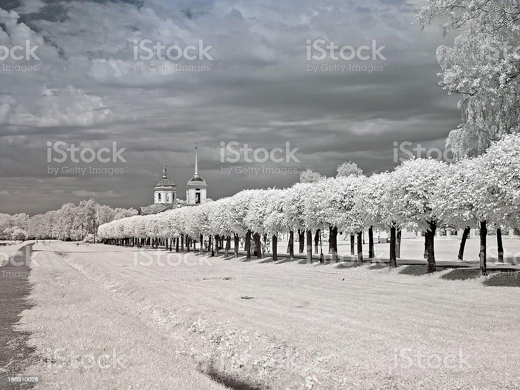Farmstead Kuskovo royalty-free stock photo