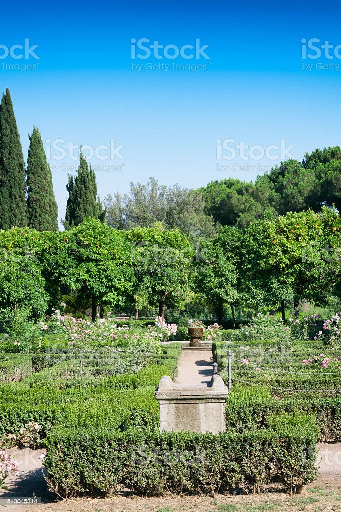 Farnese Gardens at the Roman Forum in Rome, Italy stock photo