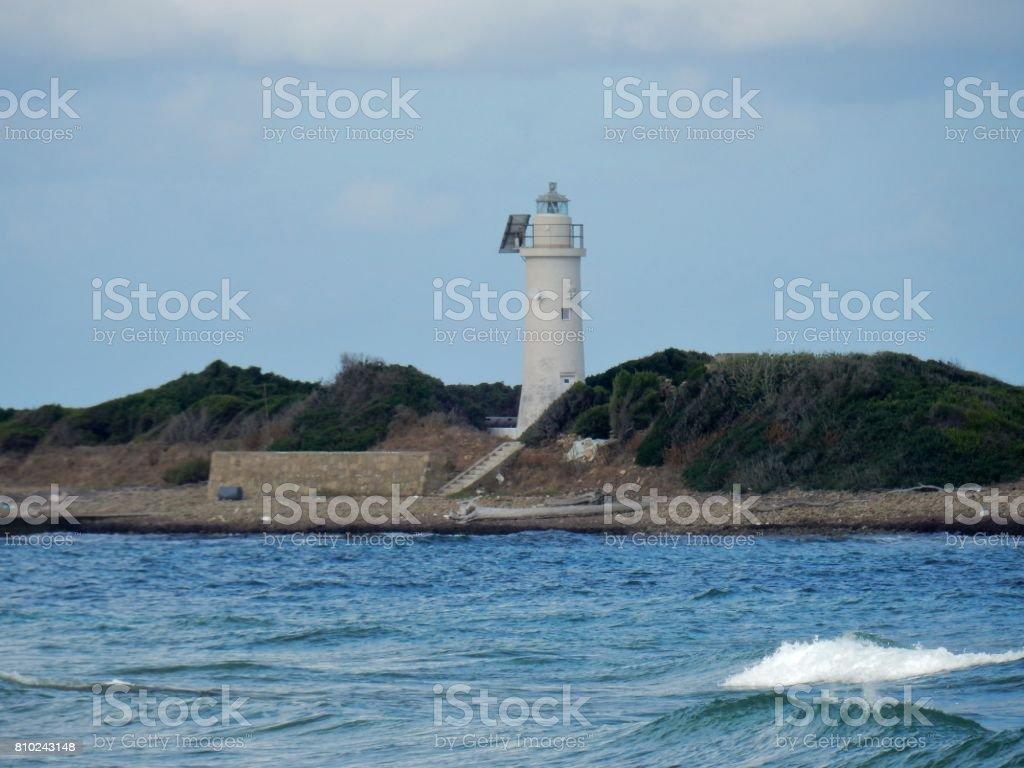 Faro all'Isola di Licosa stock photo