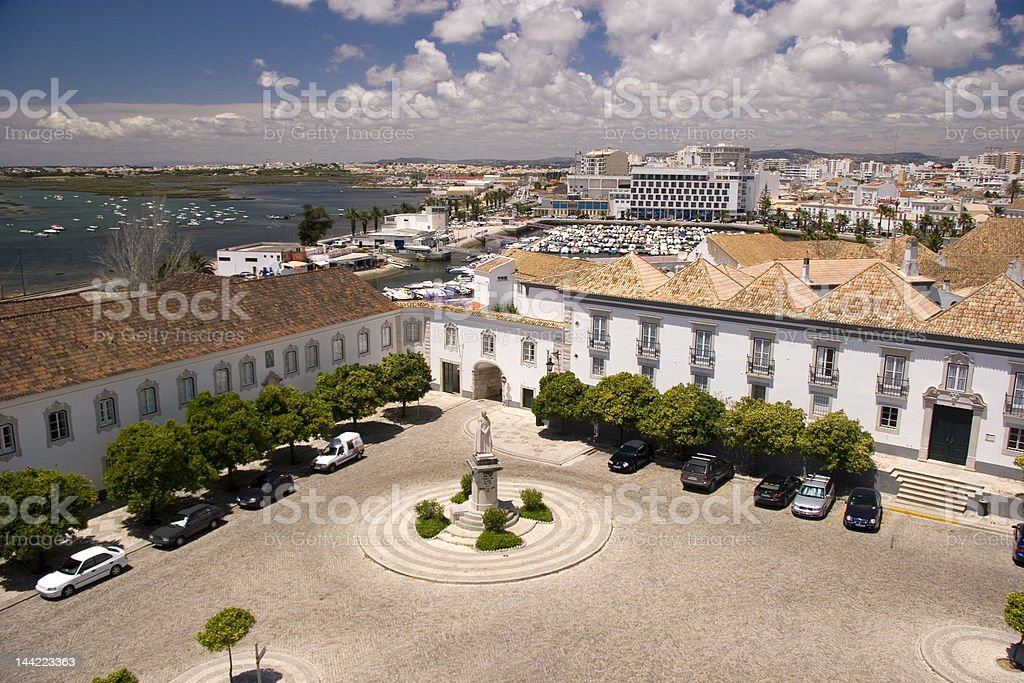 Faro, Cathedral Square stock photo