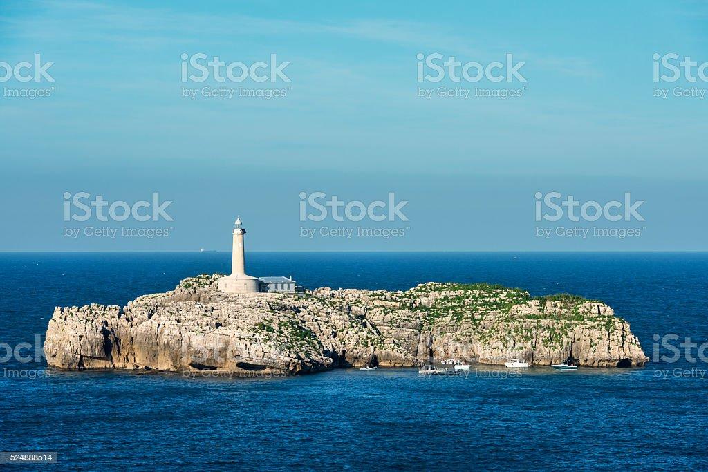 Faro de Mouro in Santander stock photo