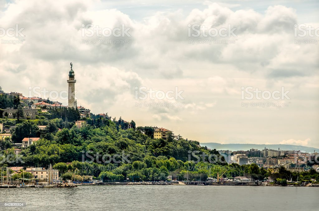 Faro della Vittoria Gulf of Trieste Italy stock photo