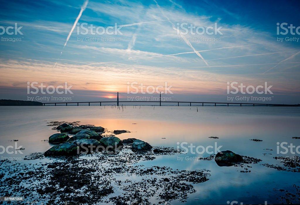 Faroe Bridge Between Falster and Zealand In Denmark stock photo