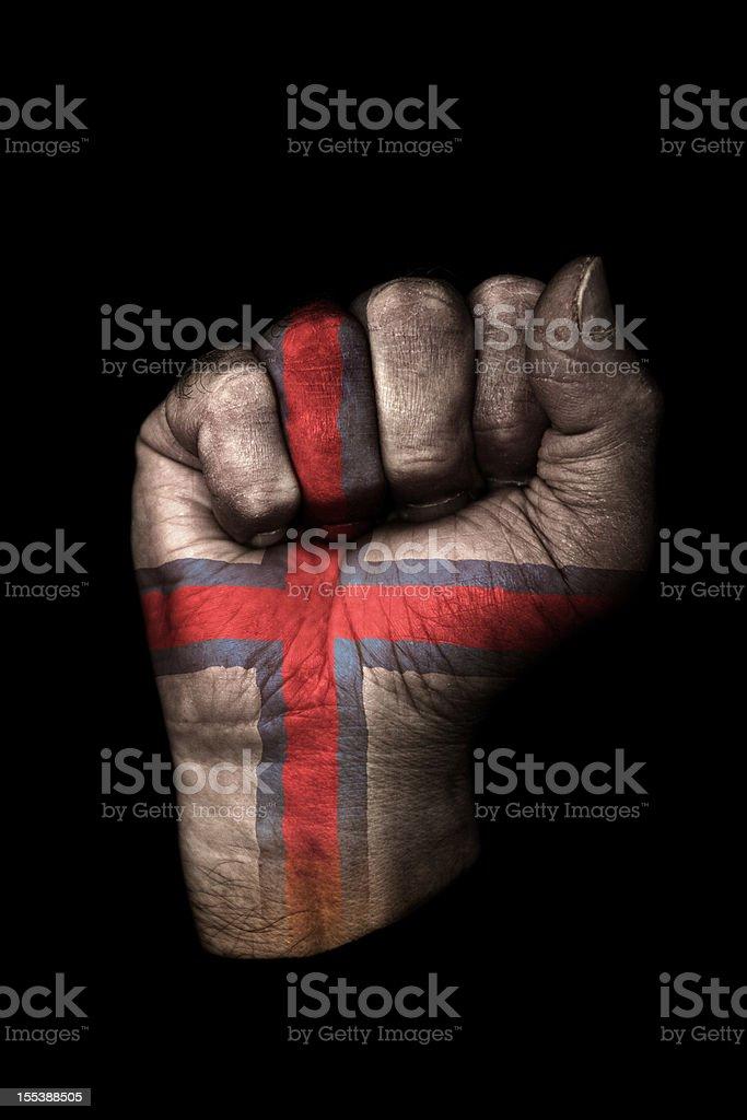 Faroe Islands Flag Fist stock photo