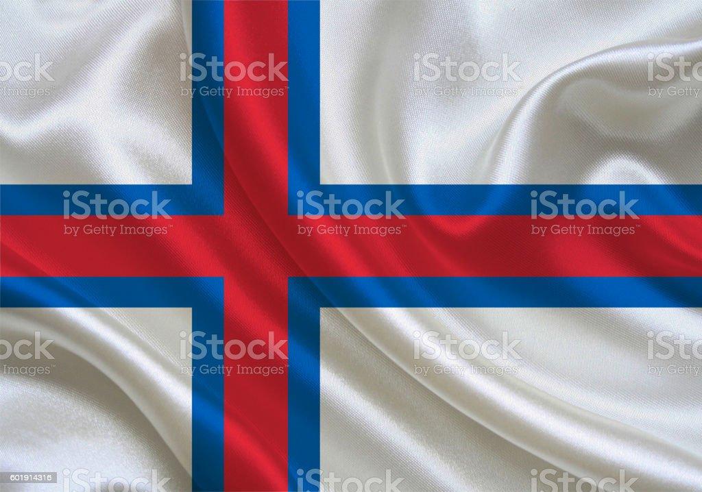 Faroe Islands flag stock photo