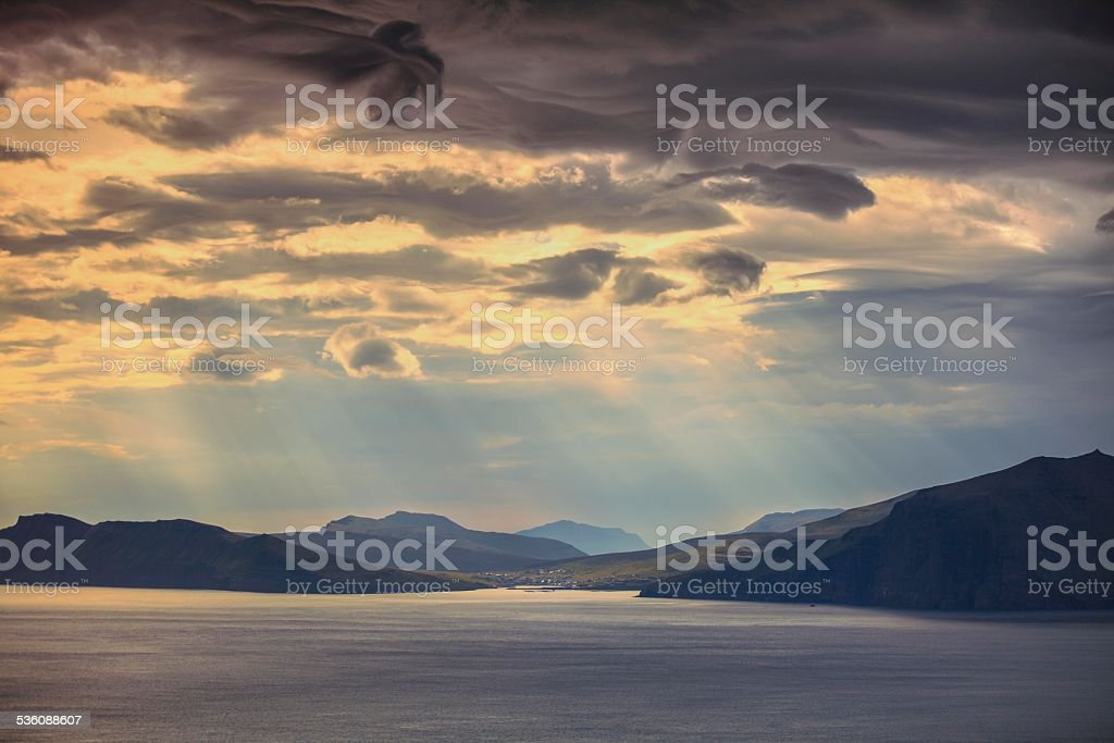 Faroe Islands Vagar stock photo