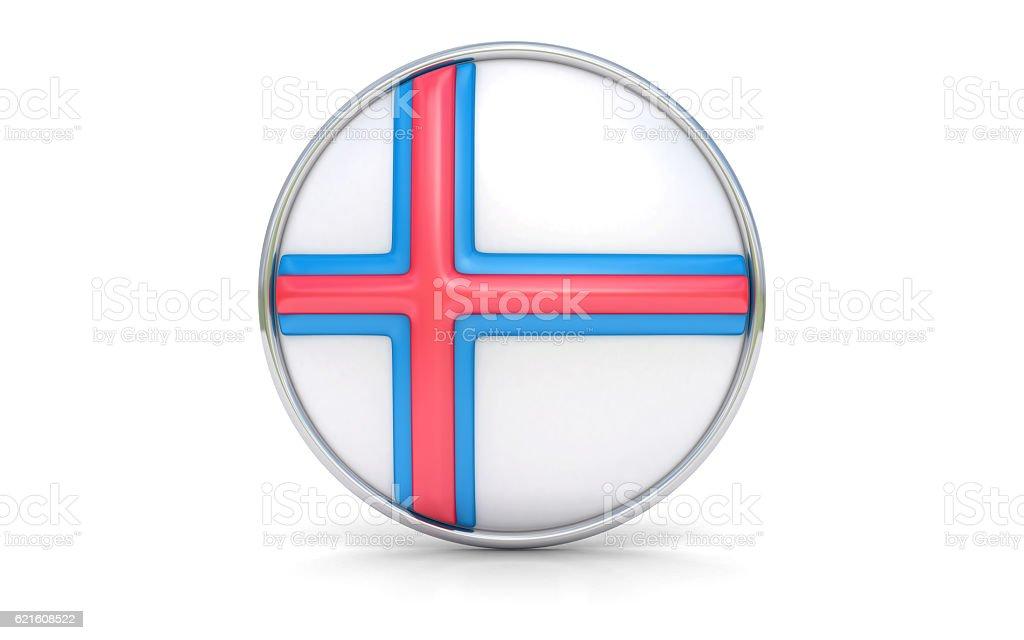 Faroese flag stock photo