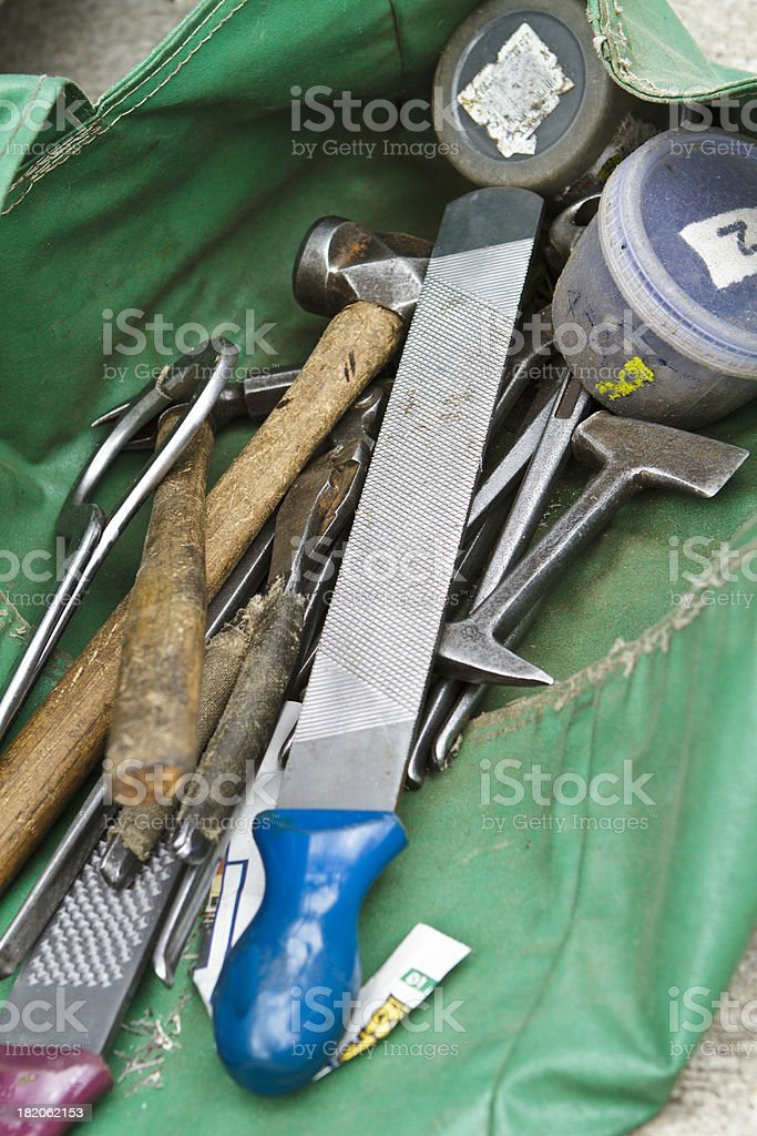 Farrier tools stock photo