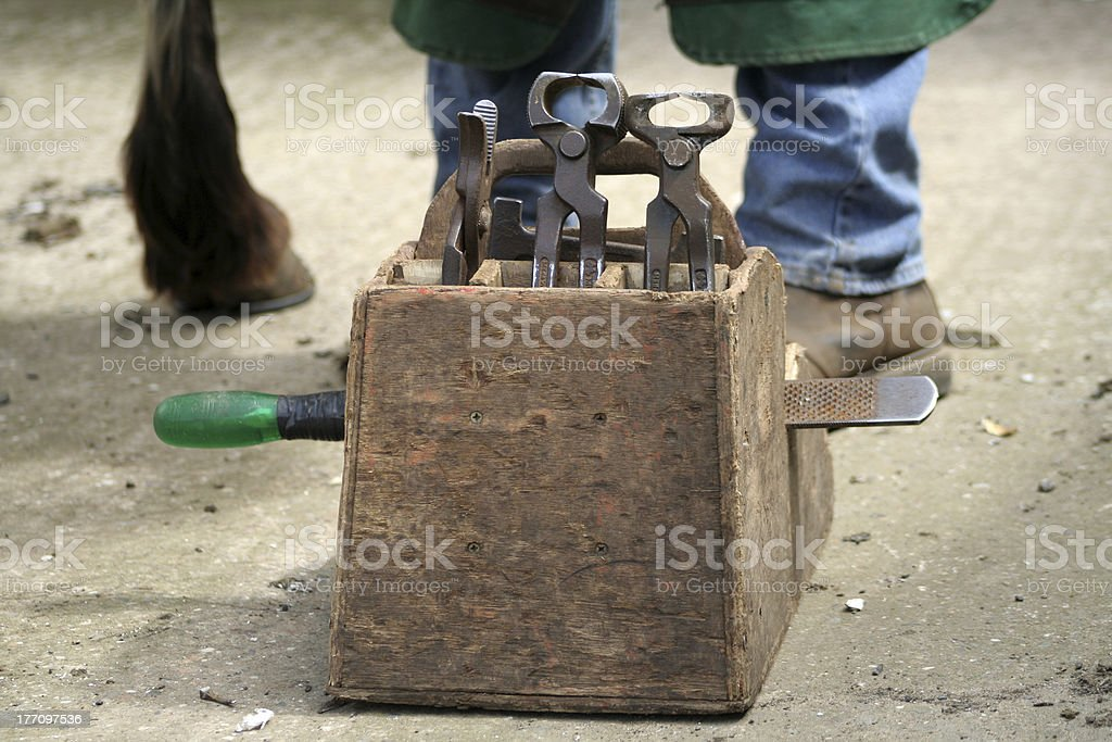 Farriers Tools stock photo