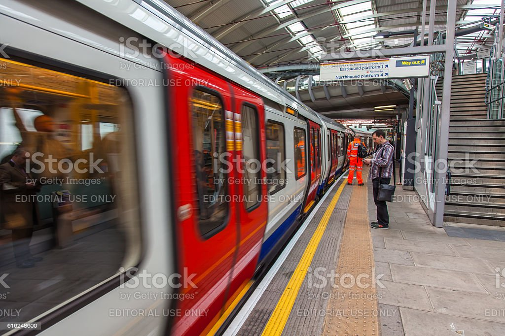 Farringdon Station stock photo