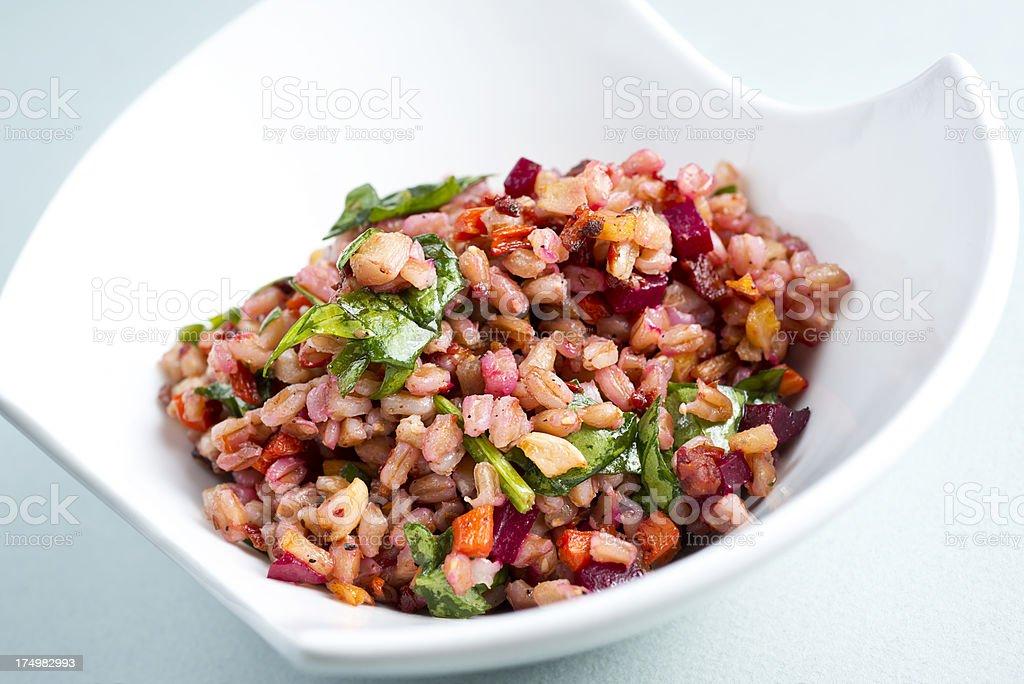 Farro Grain Dish royalty-free stock photo