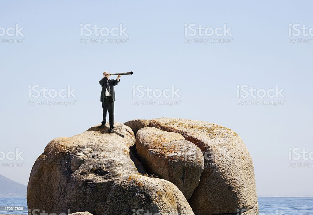 Far-sighted businessman royalty-free stock photo