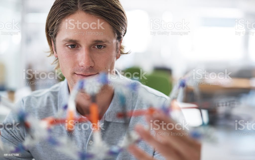 Fascinated by Science stock photo