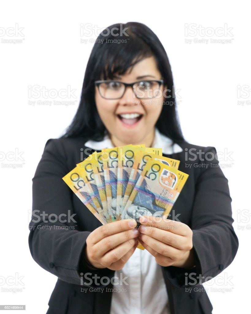 Fascinated with Money stock photo