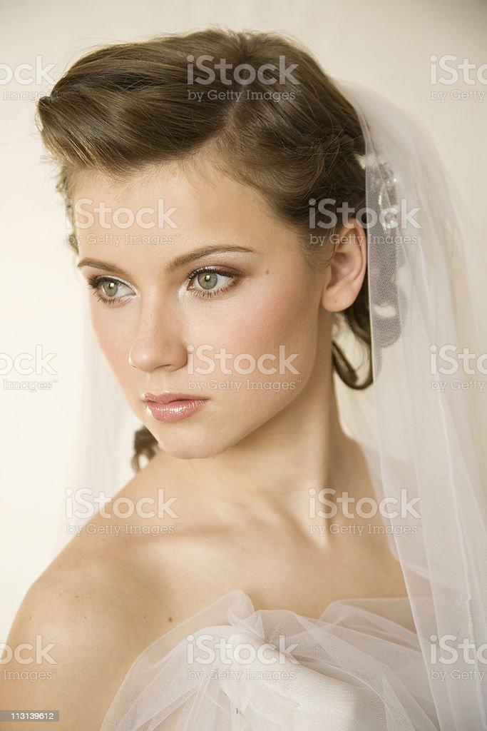 Fascinating bride. XL royalty-free stock photo