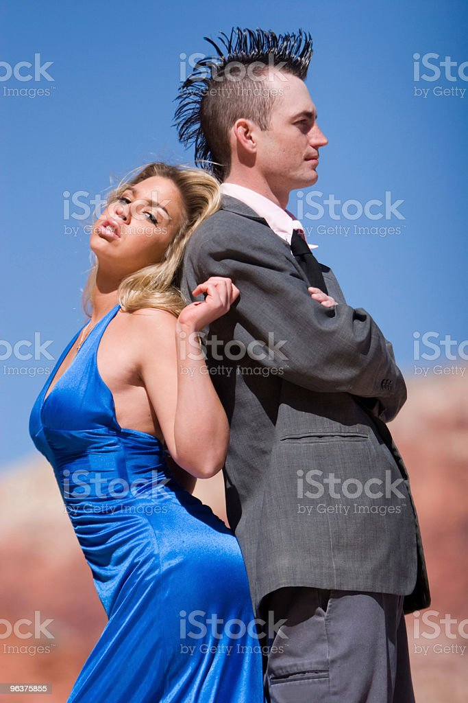 Fashinable attractive couple royalty-free stock photo