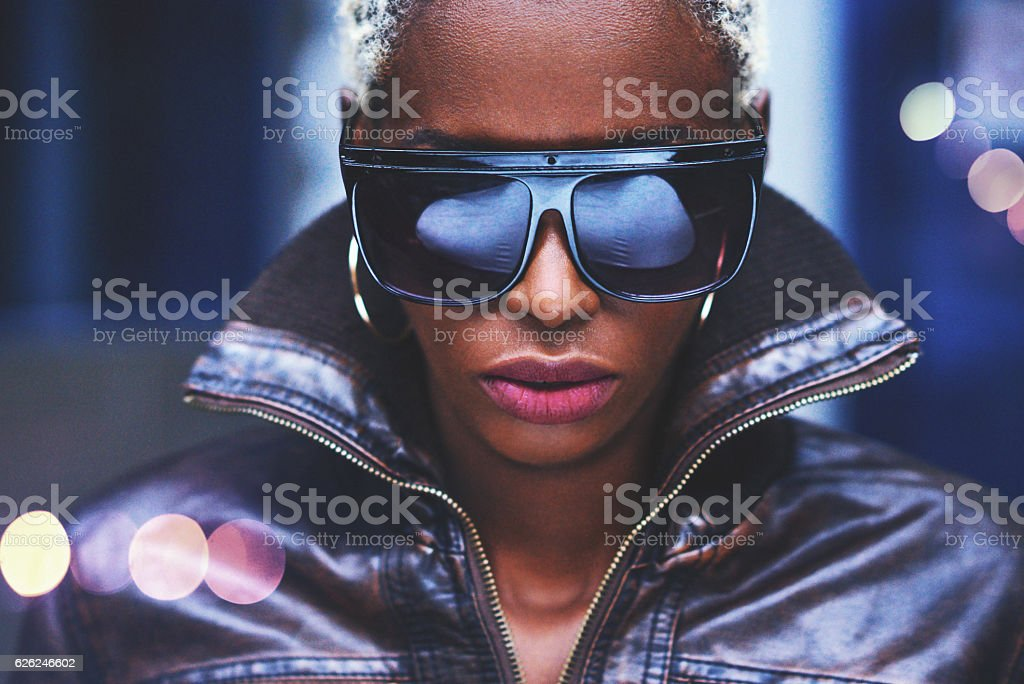 Fashio portrait of an African woman. stock photo
