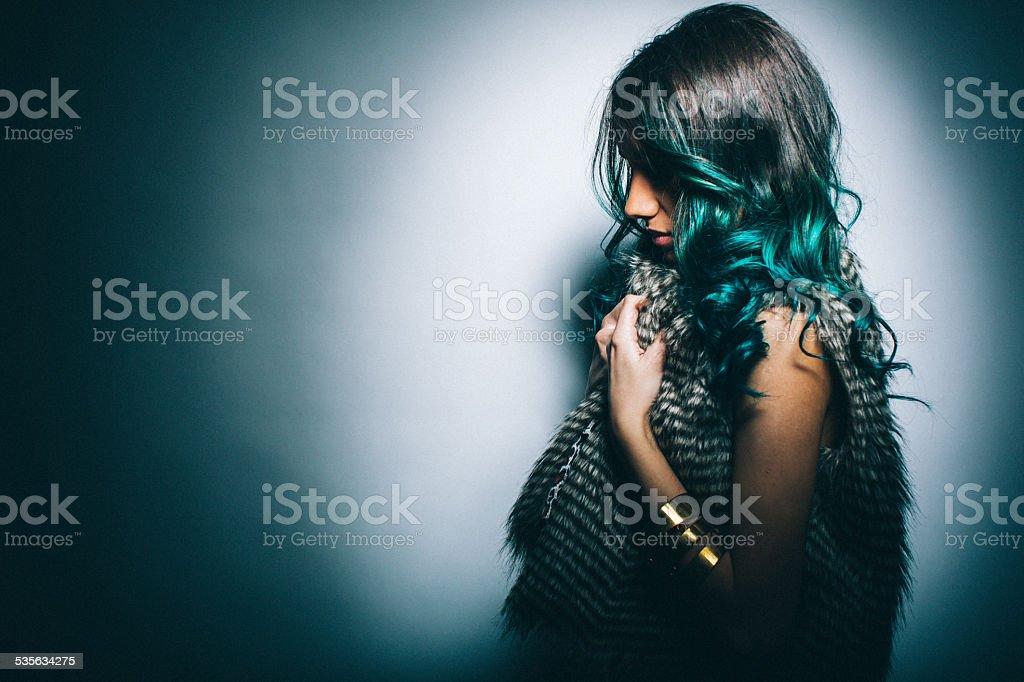 Fashion and hair stock photo