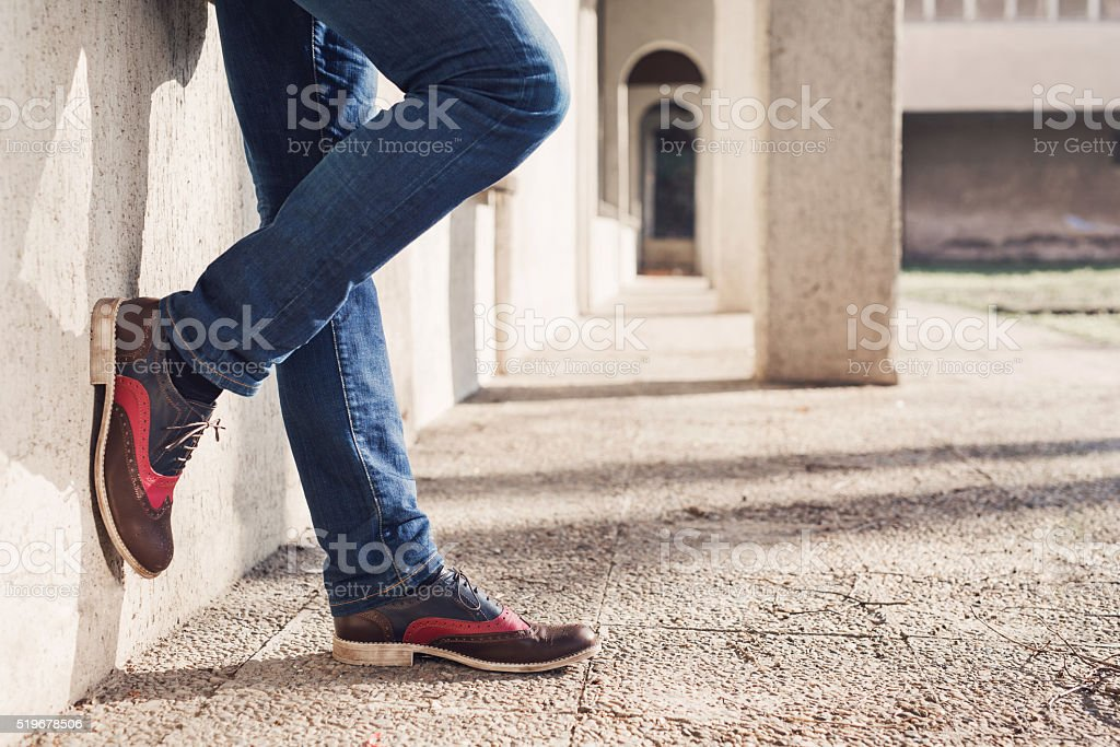 Fashion And Lifestyle Of A Modern Man stock photo