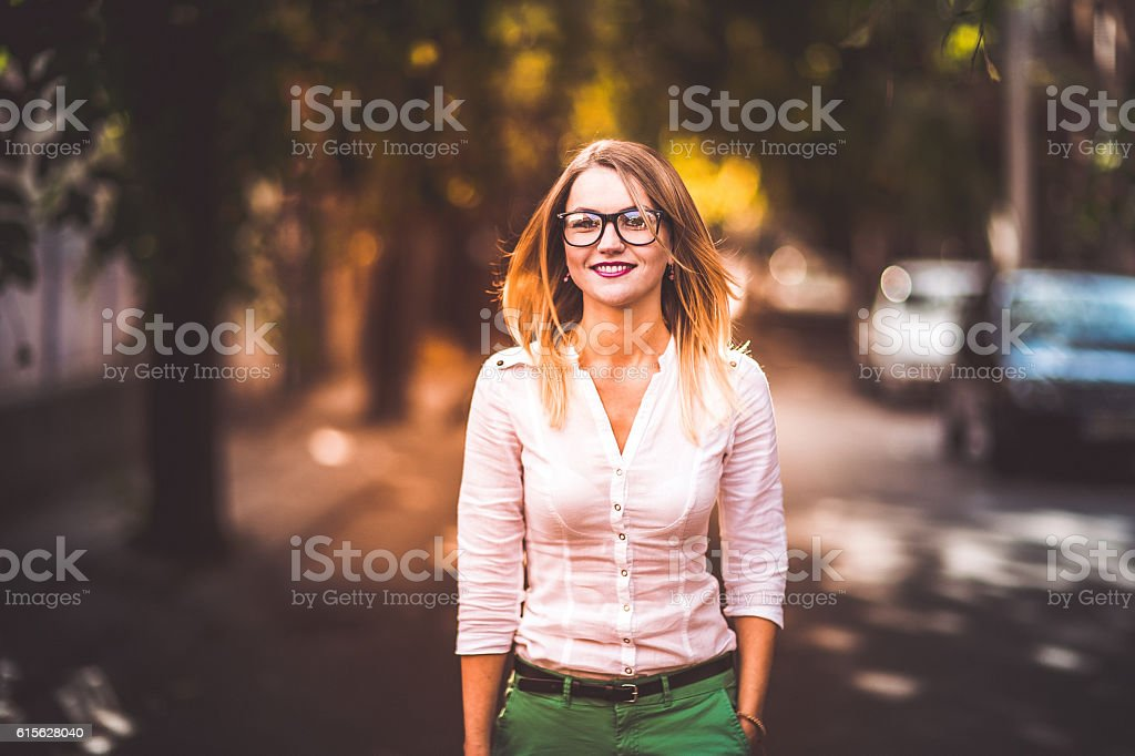 Fashion and the streets stock photo
