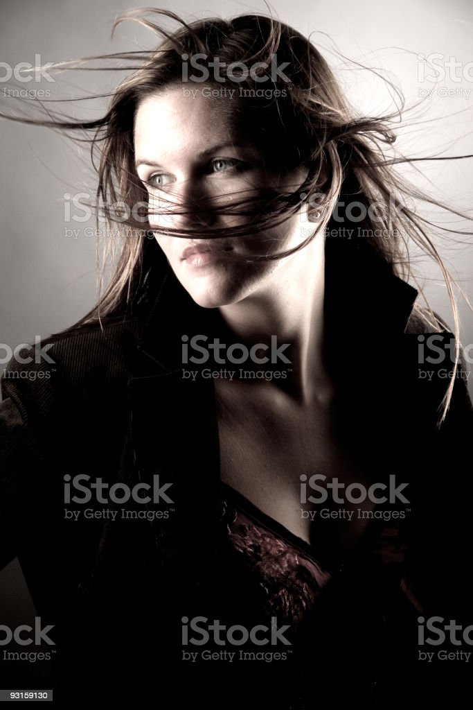 fashion and toned portrait of a women stock photo
