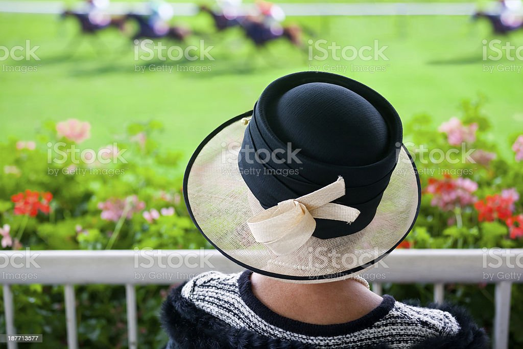Fashion at the Racetrack stock photo