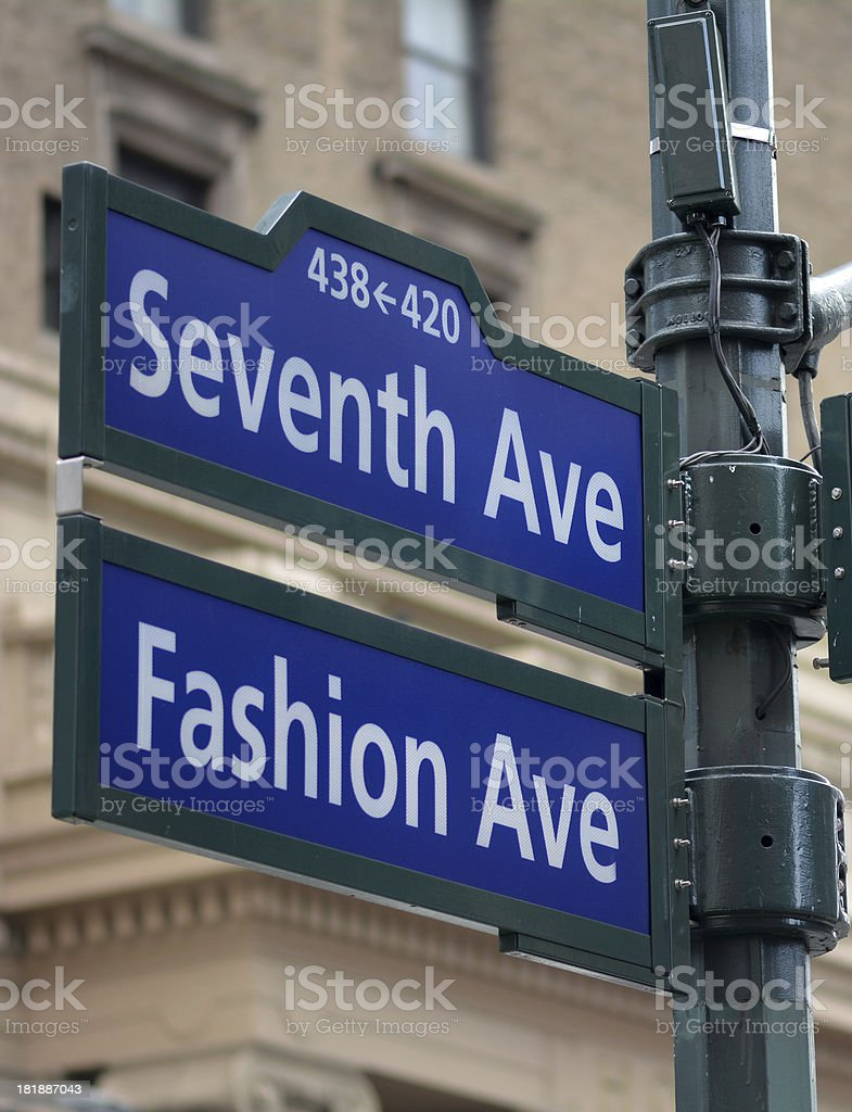 Fashion Avenue stock photo