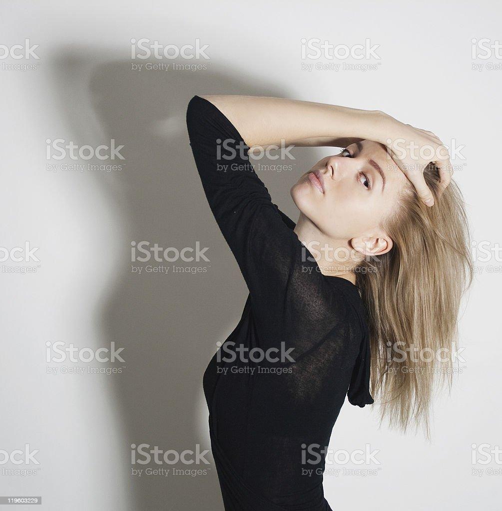 Moda mujer de belleza foto de stock libre de derechos