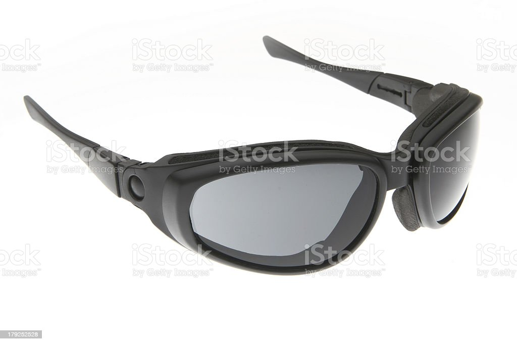 fashion black sport sunglasses royalty-free stock photo