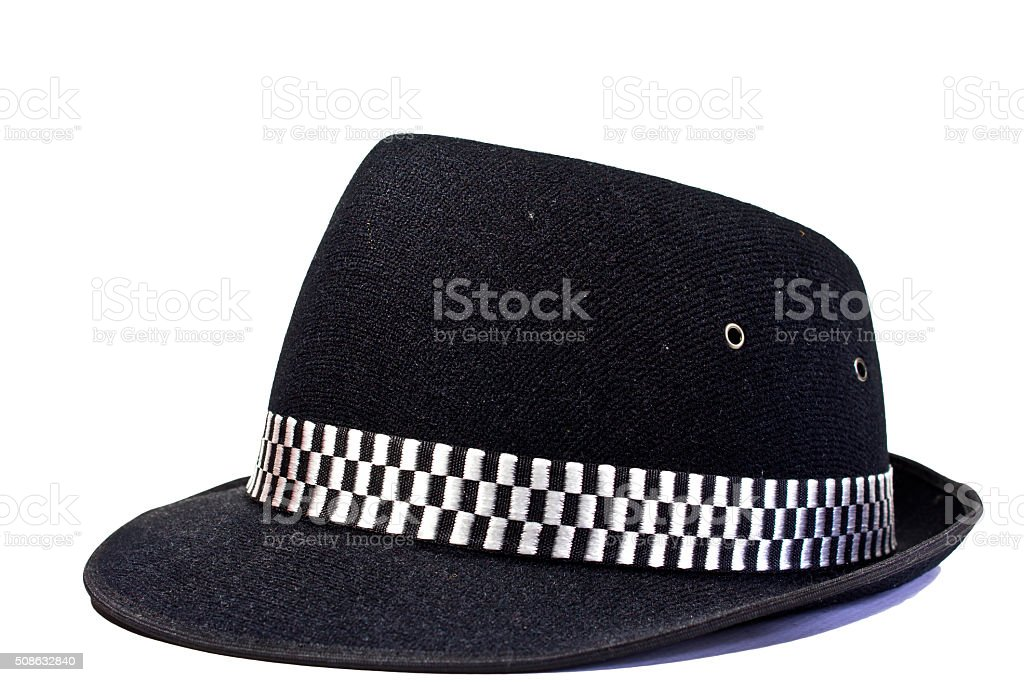 Fashion bowler hat stock photo
