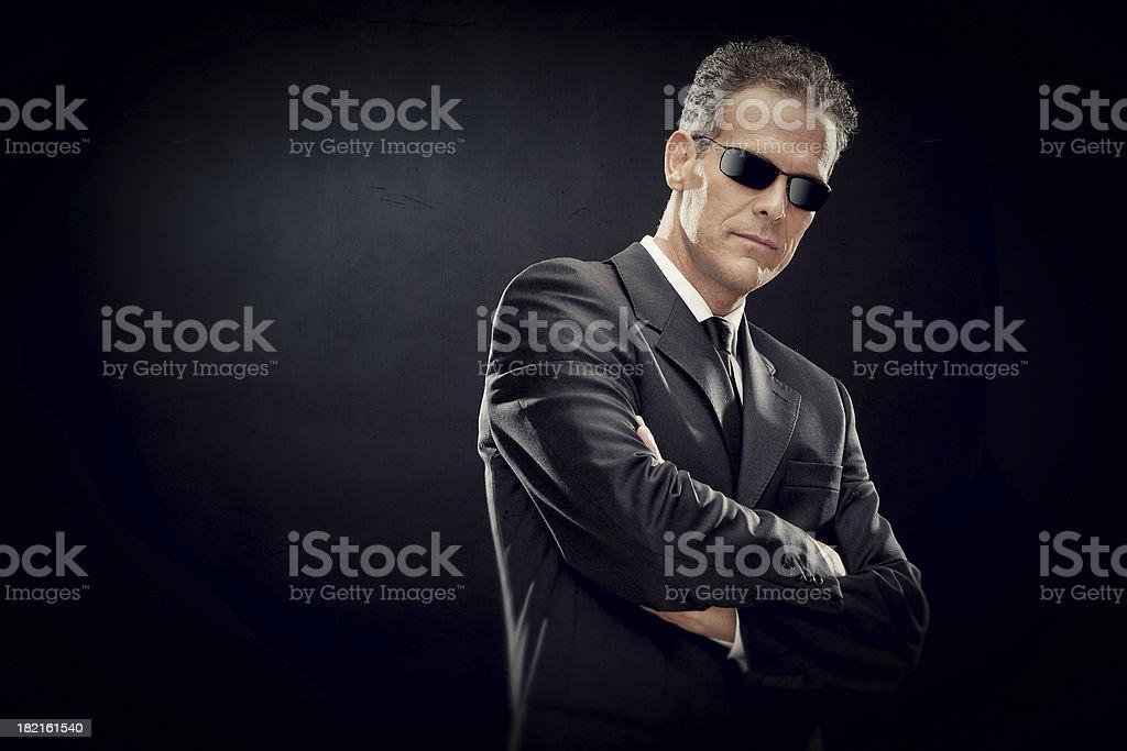 Fashion business man on black background stock photo