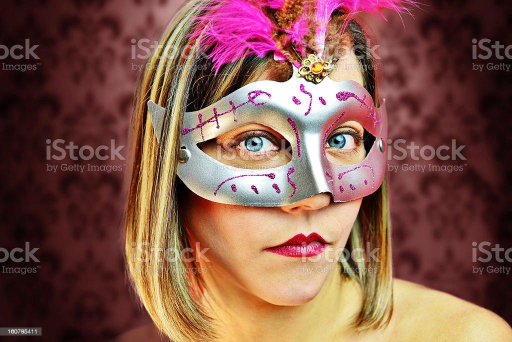 Fashion carnival woman royalty-free stock photo