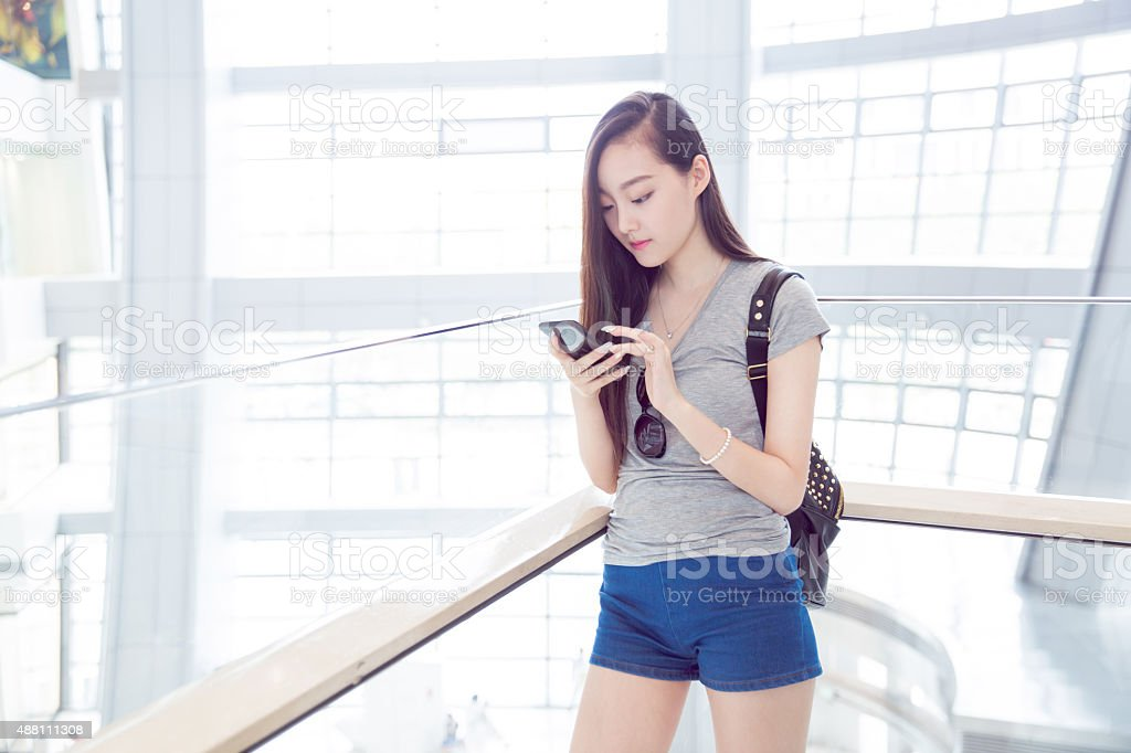 fashion chinese girl stock photo